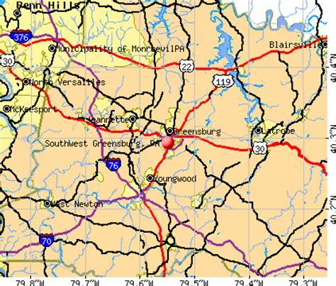 map of southwest pennsylvania southwest greensburg pennsylvania pa 15601 profile