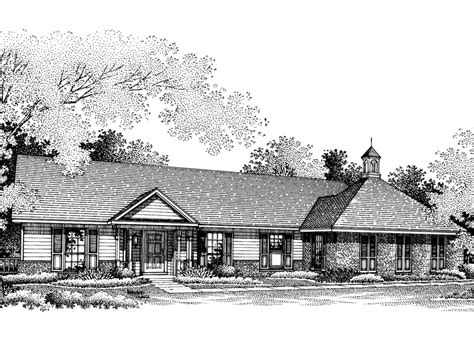 southern ranch house plans cabot hill southern ranch home plan 020d 0097 house
