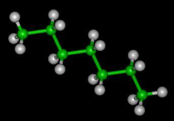 cadena carbonada maqueta hidrocarburos y radicales