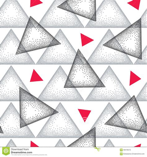 gray triangle pattern vector seamless pattern with dotted triangle in black gray and