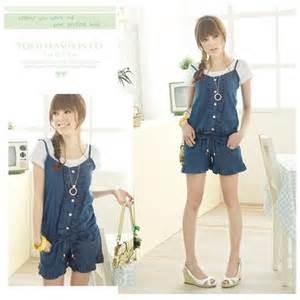 japanese jeans style cute romper dk blue brideofchuckie