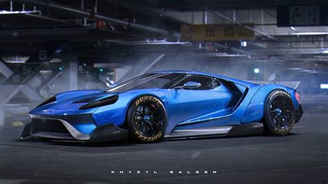 ford gt concept rendering liberty walk ford gt concept