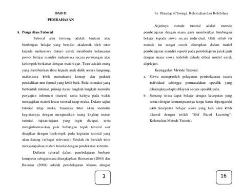 pembelajaran tutorial adalah model pembelajaran tutoria pdf