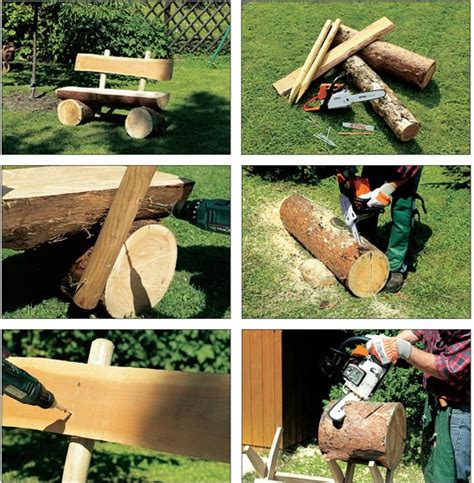 homemade log bench image gallery log bench diy
