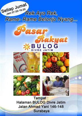 Karung Bulog Surabaya pasar rakyat tim ppu bulog jatim