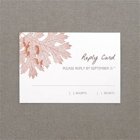 seminar response cards templates rsvp template fall leaves print