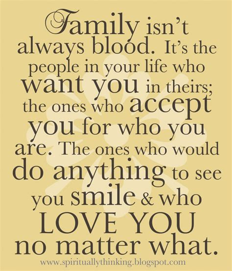 Unconditional Gift Letter Quotes Family Is Not Always Blood A Quote About Unconditional