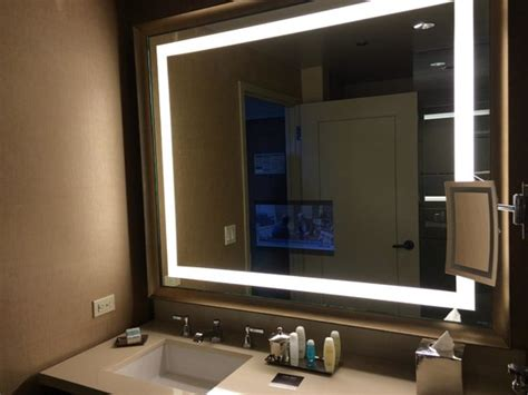 tv for bathrooms reviews bathroom with tv in mirror picture of omni dallas
