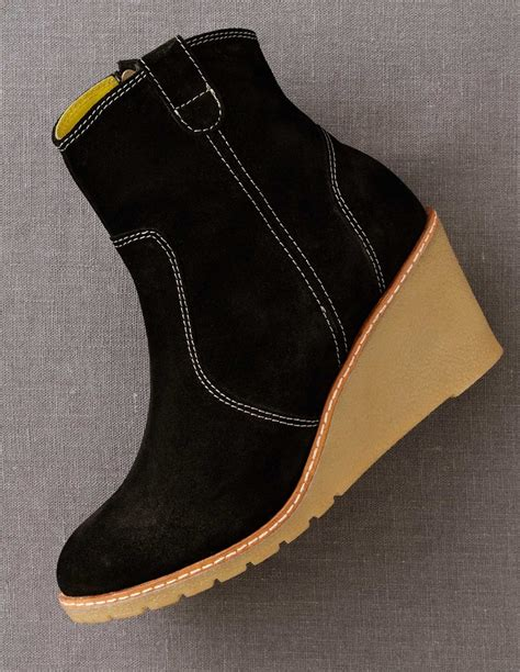 crepe sole wedge boots