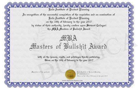 Your Mba Is Bullshit by Mba Masters Of Bullshit Award