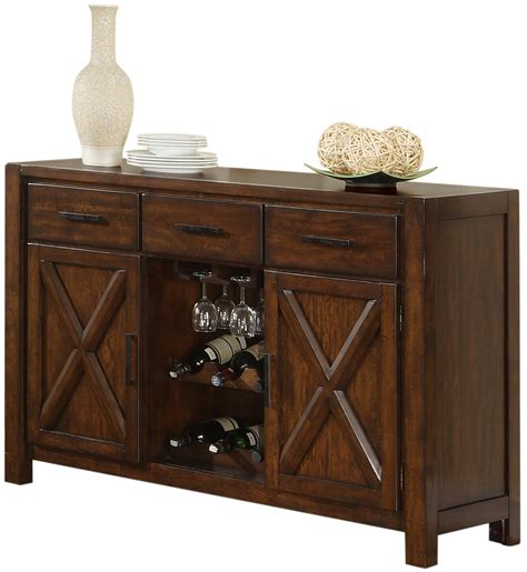 furniture mirrored buffet sideboard with wine rack holland house lakeshore 1278 5418 dining sideboard w wine