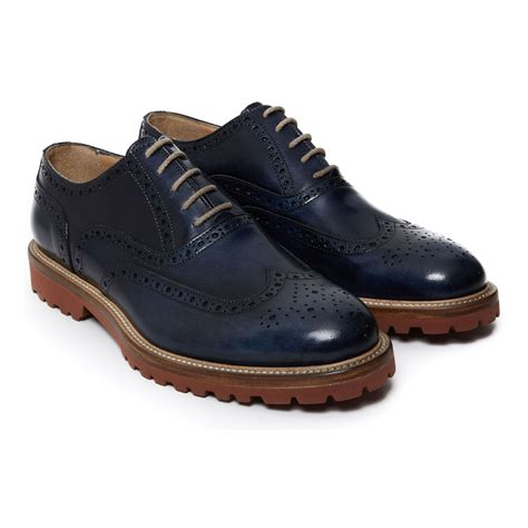 Koku Footwear Wingtip Oxfords Size 44 wing tip oxford navy 44 clearance oxfords