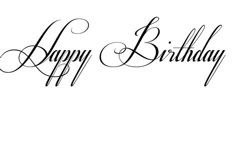 calligraphy rubber sts happy birthday fancy font bday text polyvore happy