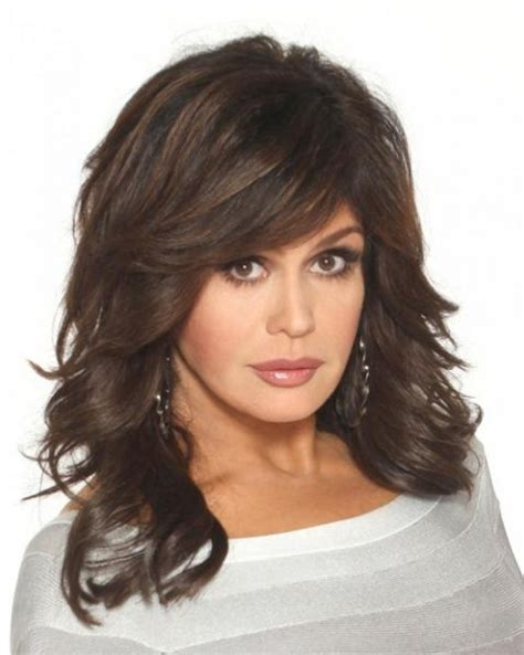 marie osmond hairstyles feathered layers marie osmond haircut hair pinterest