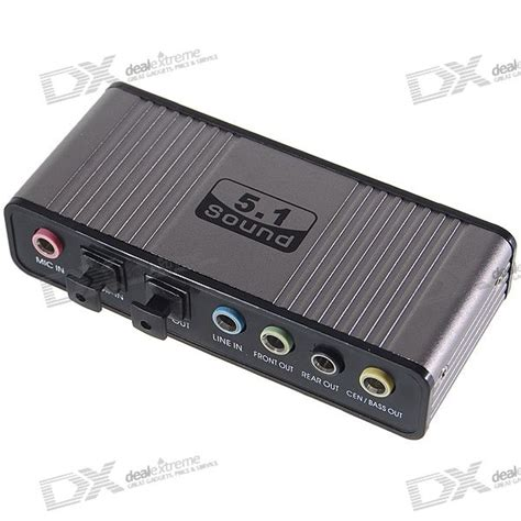 Usb Sound Card Soundcard 5 1 trust 5 1 surround usb 2 0 external sound card free