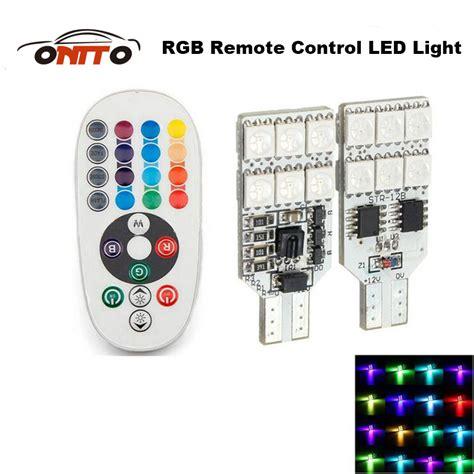 Led Senja T10 Rgb Remote Silicon Hq high quality 2pcs remote t10 w5w 168 car interior rgb led dome reading light dc 12v smd
