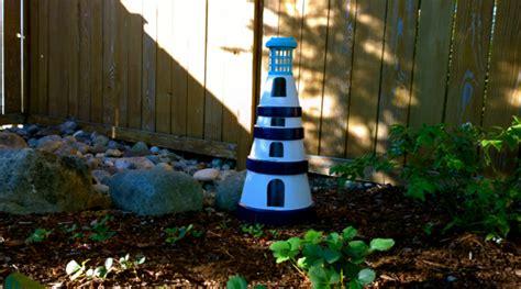 Backyard Lighthouse by Diy Terra Cotta Garden Lighthouse Gazing In
