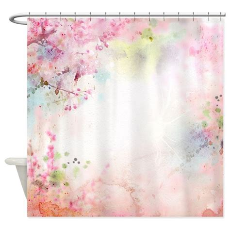 watercolor shower curtain pink watercolor floral shower curtain by showercurtainshop
