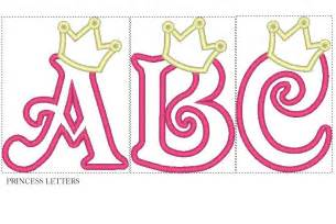 princess letter template kaye creations applique fonts