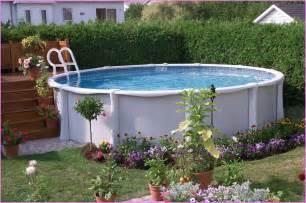 Backyard above ground pool landscape ideas home design ideas