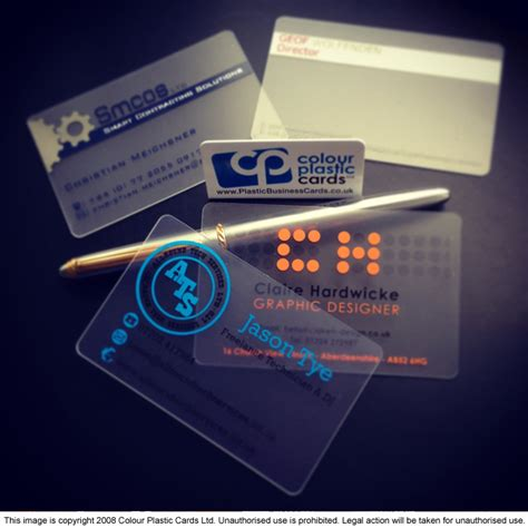 See Through Business Cards