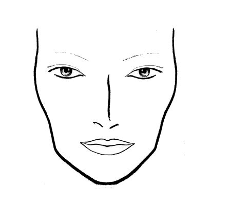 templates for drawing faces face chart szukaj w google make up pinterest face