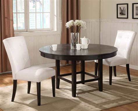 48 round dining modus bossa 48 inch round dining table in dark chocolate
