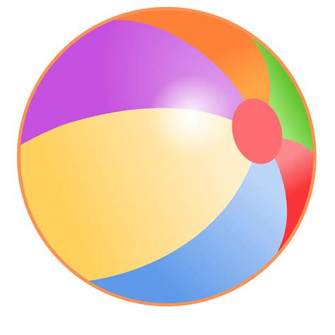 beach transparent beach ball png image clipart best