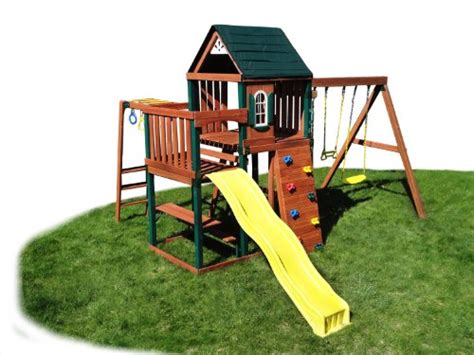 cheap wooden swing sets buy cheap swing n slide chesapeake wood complete ready