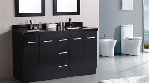 black bathroom furniture collections 15 black bathroom vanity sets home design lover