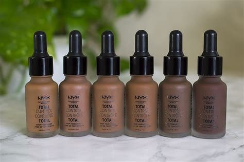 Nyx Total Drop Foundation nyx total drop foundation 24 shades clumps of