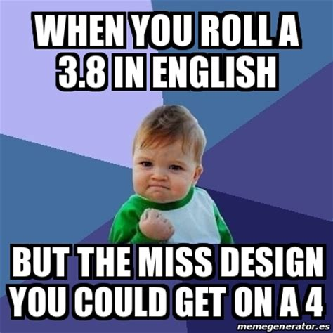 Meme Bebe - meme bebe exitoso when you roll a 3 8 in english but the