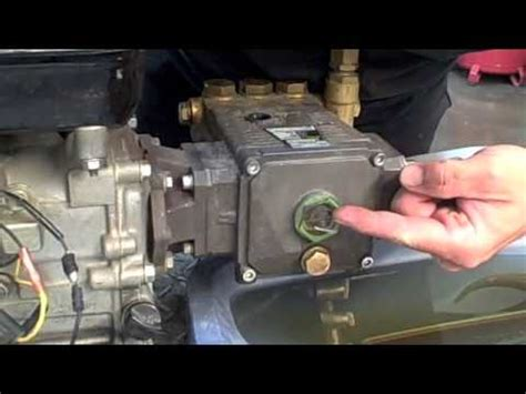 pressure washer water pump oil change youtube