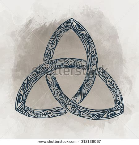 celtic triquetra tattoo designs triquetra celtic mind spirit symbol stock vector