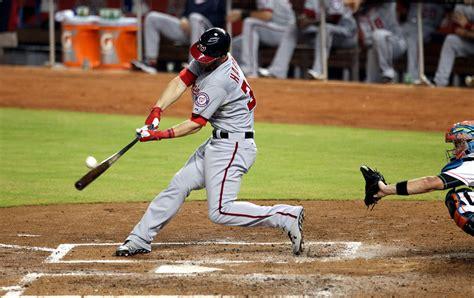 check swing home run bryce harper photos photos washington nationals v miami