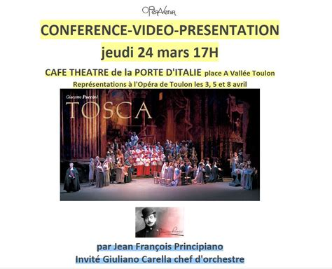 theatre porte d italie toulon conf 233 rence pr 233 sentation sur l op 233 ra de puccini tosca 24