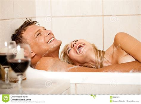 making love in a bathtub happy couple in bath stock image image of married female