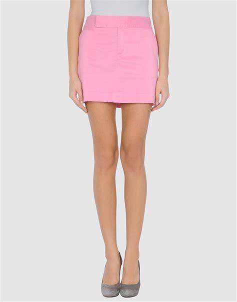 pink mini pink pony mini skirt in pink lyst