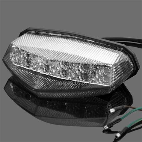 klr 650 led lights cut clear lens led running brake stop tail light