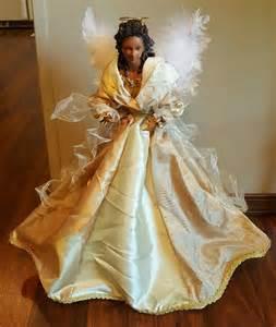 black african american angel tabletop christmas tree
