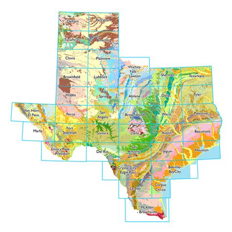 geological map of texas geologic atlas of texas 1 250 000 scanned sheets texas water development board