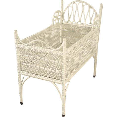 Antique Wicker Crib by Wicker Crib From Antiquesonhanover On Ruby