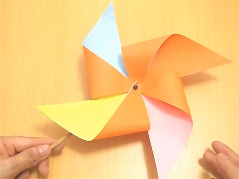 How To Make A Windmill Out Of Paper - 4 ways to make a pinwheel wikihow