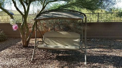 covered yard swing letgo covered porch swing in anthem az