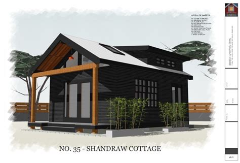 320 square feet 320 sq ft shandraw cottage house plans