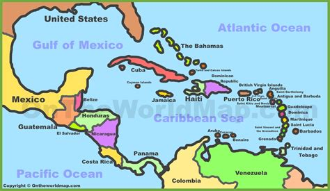 map of us and caribbean islands map caribbean middle east map