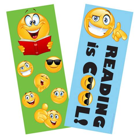 the cool web pattern of children s reading bookmarks for kids emoji reading is cool double sided