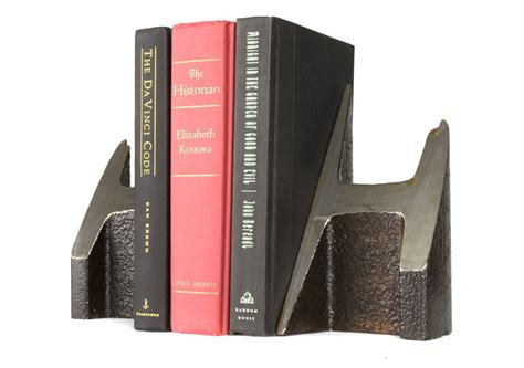 Home Decor Software century old steel rail bookends the green head