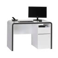 White Desk Computer Pc Tisch In Wei 223 Grau Sketto Pharao24 De