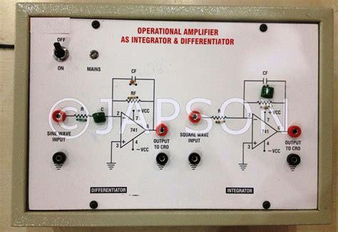 integrator circuit experiment operational lifier as differentiator integrator experiment apparatus